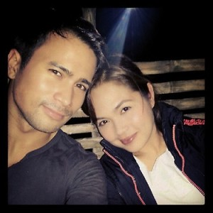 Filipino American Sam Milby with Judy Ann Santos